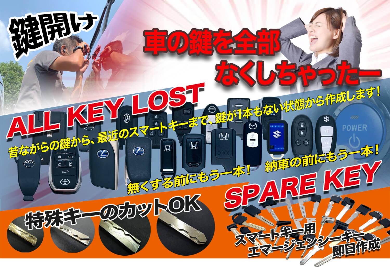車の鍵を全部なくしちゃったら 鍵屋アドロック