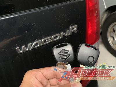 スズキ ワゴンR キーレスリモコン作成 アドロック広島